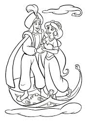 aladdin coloring pages flying jasmine coloringstar
