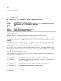 Template For Letter Of Appeal Letter Request Waiver On Penalty Interest Common Law Society