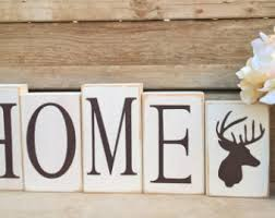 deer decor for home deer block letters etsy