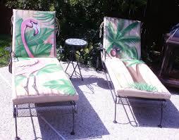 flamingo tropical lounge chair cushions wink design murals