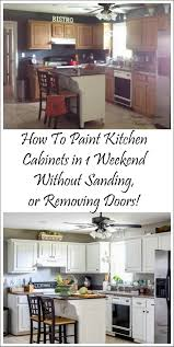 Painted Kitchen Cabinets White How I Painted My Kitchen Cabinets Without Removing The Doors