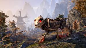skeletal pack wolf elder scrolls fandom powered wikia