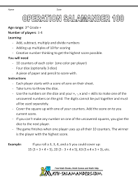 Multiplying And Dividing Negative Numbers Worksheet Third Grade Math Games