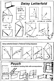 envelope and letter folding daisy letterfold