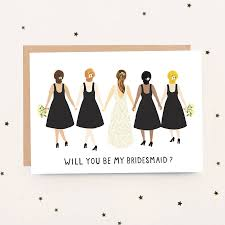 bridesmaid cards will you be my bridesmaid card by jade fisher