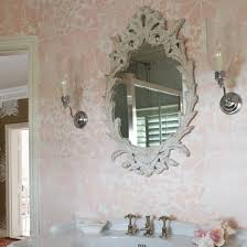 shabby chic kids bathroom wallpaper design ideas