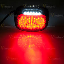 custom smoke led tail light for harley 91 10 softail sportster