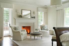 Master Bedroom With Fireplace White Master Bedroom Sitting Space With Fireplace Transitional