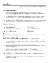 Oncology Nurse Resume Example Ob Gyn Resume Resume Cv Cover Letter