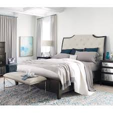 Upholstered Sleigh Bed Sutton House Wood Upholstered Sleigh Bed Humble Abode