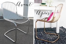 chaise dorée diy comment peindre des chaises en métal en doré