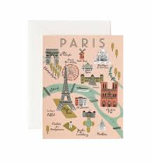 paper maps map greeting card by rifle paper co made in usa