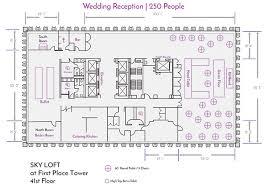 Wedding Reception Floor Plan Template Sky Loft Facility Layouts U0026 Floor Plans For Events U0026 Weddings