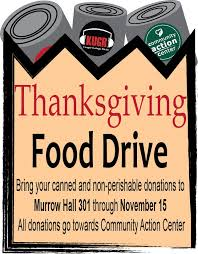 thanksgiving food drive kugr college radio