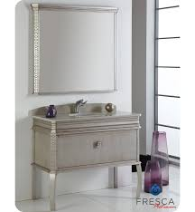 40 Bathroom Vanities Fresca Fpvn7526sa Platinum 40 Inch Antique Silver Bathroom