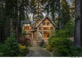 lake tahoe home modern techniques help create old world cottage
