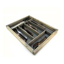 modern silverware wood silverware storage tray large knork touch of modern
