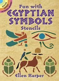 fun with egyptian symbols stencils dover stencils ellen harper