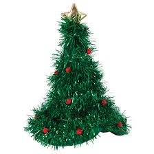 christmas tree hat adults christmas tree hat with tinsel christmas fancy dress