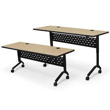 Adjustable Height Nido Flip Top Conference Training Tables By Balt