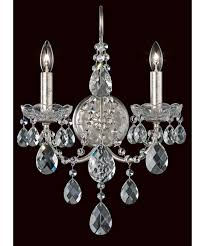 Crystal Wall Sconces Schonbek St1939 Sonatina 13 Inch Wide Wall Sconce Capitol