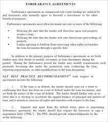 forbearance agreement 7 download free documents in pdf word excel