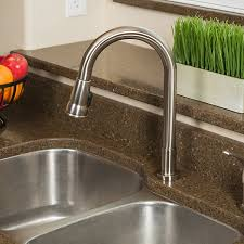 pacific bay grandview pull down kitchen faucet with soap dispenser pacific bay grandview pull down kitchen faucet with soap dispenser beautiful upgrade for any home new 2017 model brushed satin nickel amazon com