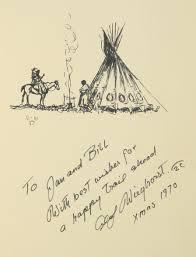 olaf wieghorst ink sketch inside the book olaf wieghorst