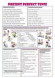 printable worksheets english tenses present perfect tense english pinterest english english