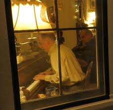 tom bopp on the piano at night picture of big trees lodge dining