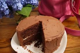 red wine chocolate cake with buttercream frosting and cream cheese