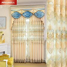 Valance Curtains For Living Room Online Get Cheap Luxury Curtains Valances Aliexpress Com