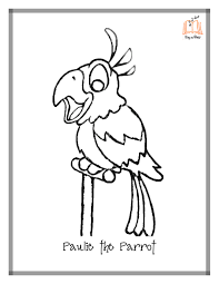 pirate parrot coloring pages with parrot coloring pages glum me