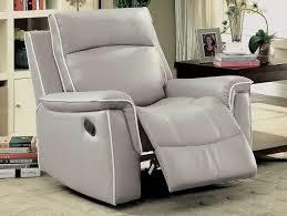 Grey Leather Reclining Sofa Catchy Grey Leather Reclining Sofa Myron Modern Recliner Sofa Grey