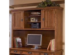 Computer Desk With Hutch by Ashley Furniture Cross Island 2 Door Mission Hutch With 3 Shelves