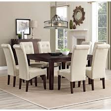cream dining room chairs simpli home cosmopolitan 9 piece satin cream dining set axcds9 cos