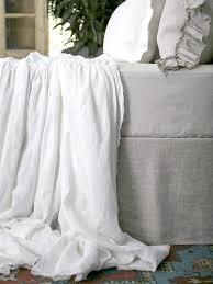 matteo vintage linen bed panel