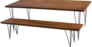 metal dining bench industrial metal design indoor outdoor wood