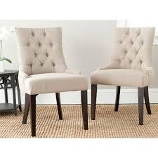 Safavieh Furniture Outlet Store Safavieh Abby True Taupe Linen Blend Side Chair Set Of 2