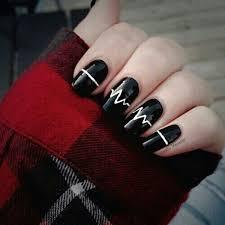 50 incredible black and white nail designs
