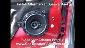 how to replace front door speakers in a chrysler pt cruiser youtube