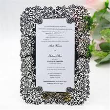 handmade invitations laser cut floral vines wedding invitation custom handmade