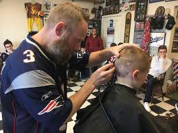young patriots fans get their bowl cuts at halifax barber shop