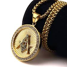 necklace pictures free images Nyuk new iced out gold freemason masonic compass g round pendant jpg