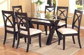 Round Glass Kitchen Table Round Glass And Wood Dining Table Set Oval Glass Dining Table Wood