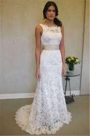 Custom Made Wedding Dresses Formal White Lace Sweep Train Bridal Gown Simple Popular Custom