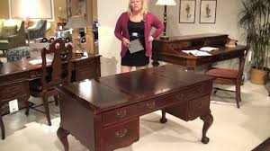 hekman desk leather top traditional writing desk by hekman furniture home gallery stores