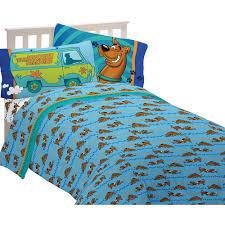 Scooby Doo Bed Sets Scooby Doo Microfiber Sheet Set Blue Walmart
