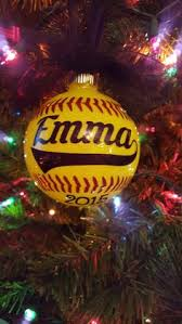 Glitter Christmas Ornaments Mop And Glo by Personalized Softball Christmas Ornament This 3 Glass Ornament