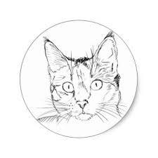 cat sketch stickers zazzle